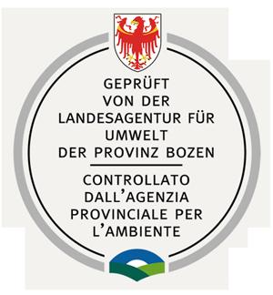 Qualitätssiegel - Umweltamt Bozen